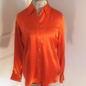 Saks Fifth Avenue The Works 100% Silk Shirt 8